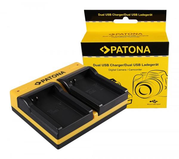 PATONA Dual Ladegerät f. Contour GPS Contour CT-3650 HD 1080P inkl. Micro-USB Kabel
