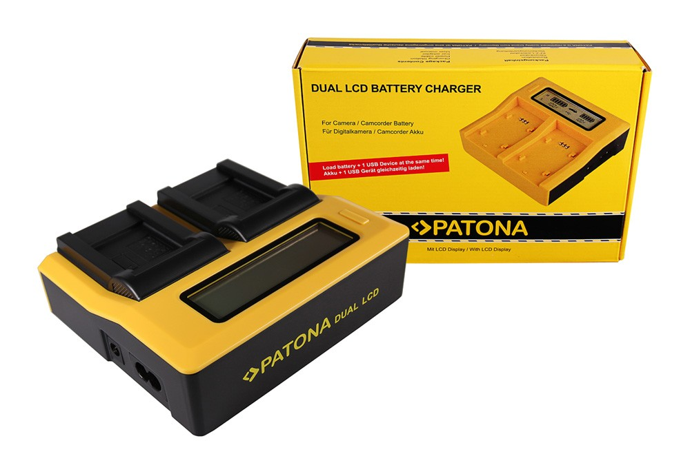 Patona Kodak Olympus Li-40B Klic 7006 Olympus Li-40B Olympus Li-40B dual LCD USB töltő