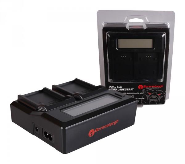 Berenstargh Dual LCD USB Ladegerät f. Samsung BP-80W SCD385SC SC-D385SC VPD381 VP-D381 VPDX100