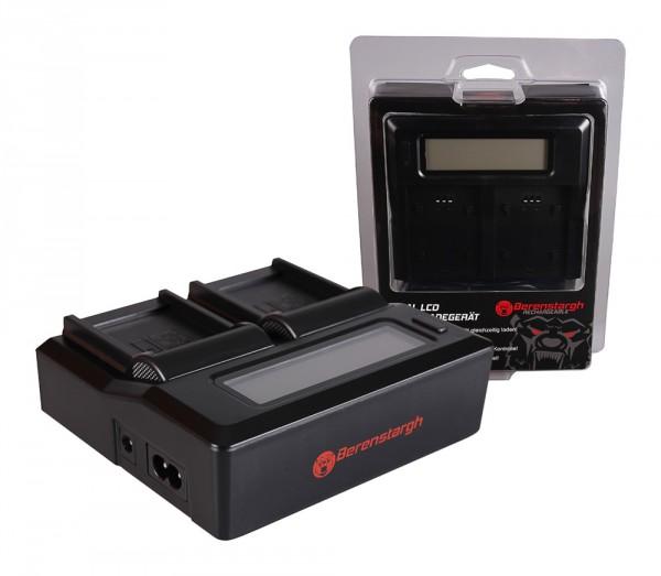 Berenstargh Dual LCD USB Ladegerät f. Casio NP-110 Exilim EXH30 EX-H30 EXZ2000 EX-Z2000 EXZ2300