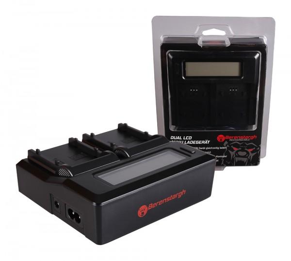 Berenstargh Dual LCD USB Ladegerät f. Samsung SB-P90A SC SC105L SC-105L SCM105 SC-M105 SCM105S