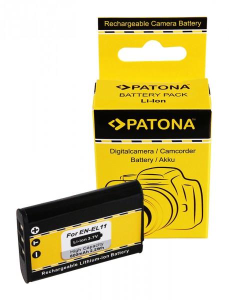 Akku f. Nikon EN-EL11 CoolPix S550 S560 EN-EL11 EN-EL11 Pentax EN-EL11 von PATONA
