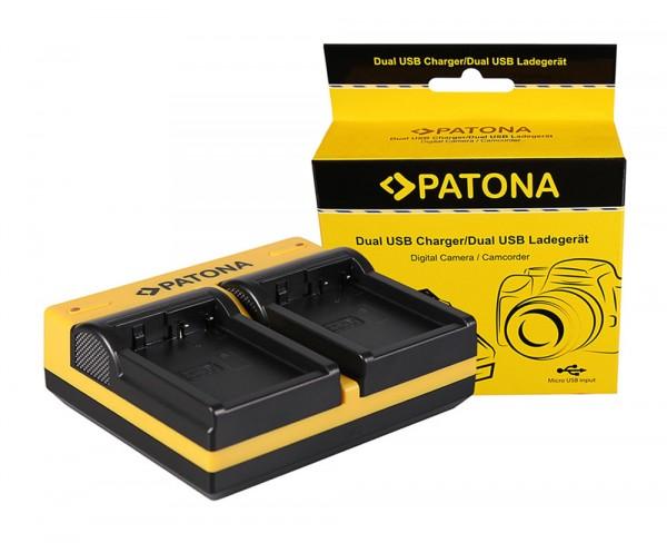 PATONA Dual Ladegerät f. Leica Panasonic DMW-BLC12PP V-Lux 4 Panasonic DMW-BLC12PP inkl. Micro-USB K