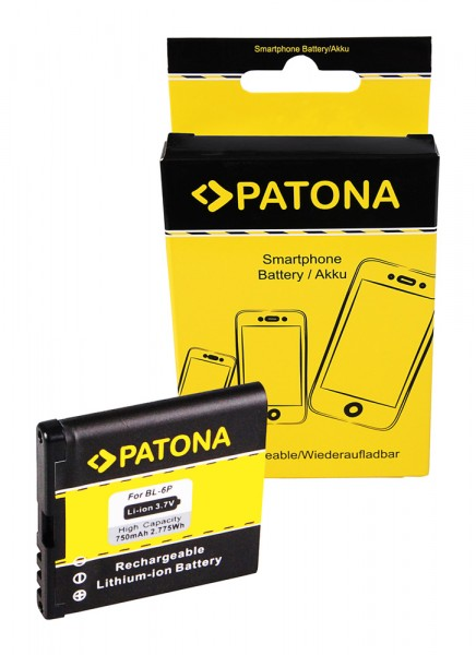 Akku f. Nokia 6500 classic 6500 classic 6500C 7900 Prism von PATONA