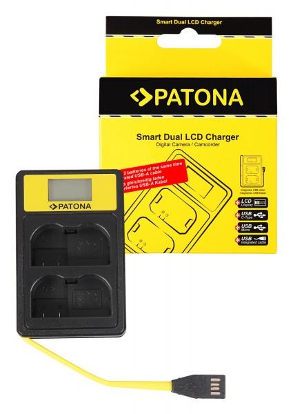 PATONA Smart Dual LCD USB Ladegerät f. Nikon EN-EL15 ENEL15 D600 D610 D7000 D7100 D800 D8000 D800E D810 Z6 Z7