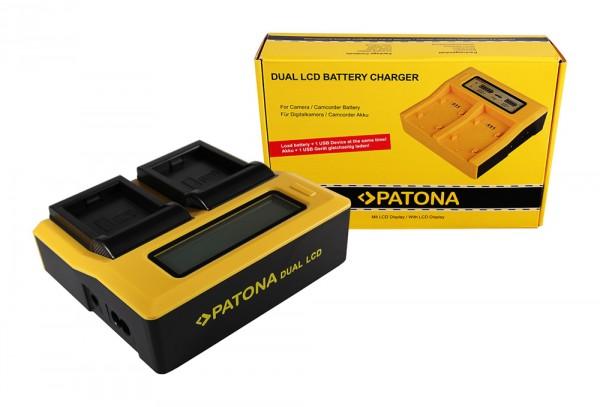 PATONA Dual LCD USB Ladegerät f. GoPro AHDBT-001 HD Hero 1 2 AHDBT-001 HD HD Helmet Hero HD