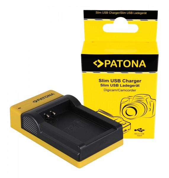 PATONA Slim Micro-USB Ladegerät f. Canon LP-E12 EOS M