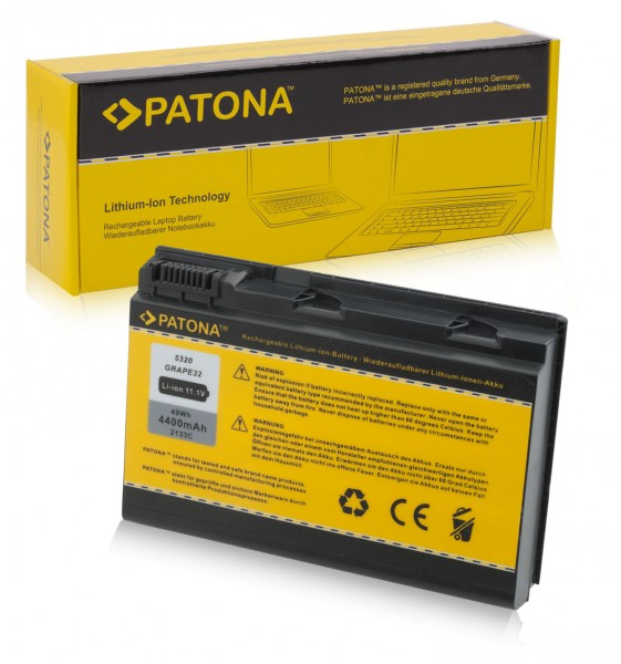 Akku f. Acer TM00751 Extensa 5210300508 5220100508 von PATONA