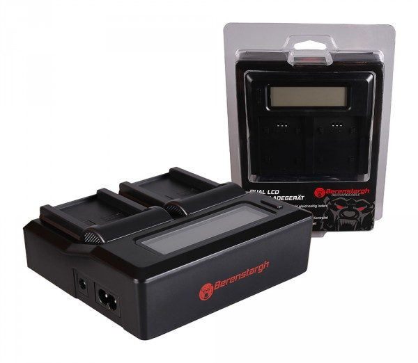 Berenstargh Dual LCD USB Ladegerät f. Casio NP-90 Exilim EXH10 EX-H10