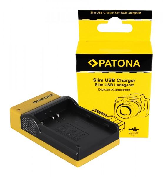 PATONA Slim Micro-USB Ladegerät f. Konica Minolta Nikon EN-EL3 Dynax 5D 7D Nikon EN-EL3 Minolta