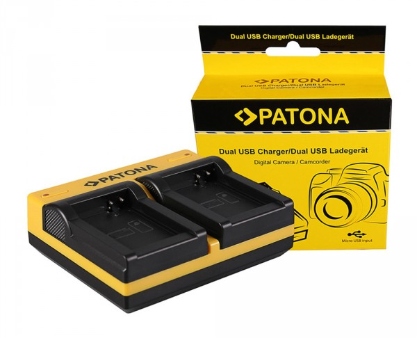 PATONA Dual Ladegerät f. Canon NB-10L Powershot G16 SX 40 H SX40 SX-40 SX40 HS SX40H inkl. Micro-USB