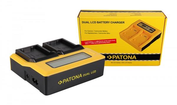 Dual LCD Ladegerät f. Nikon EN-EL9 CoolPix D40 D40x D5000 D60 von PATONA