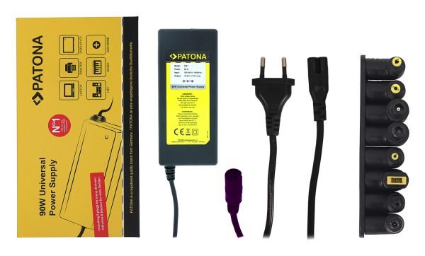 PATONA 90W Universal Netzteil f. Notebook Drucker Hifi Display mit 8 verschiedenen Steckern 18,5-20V