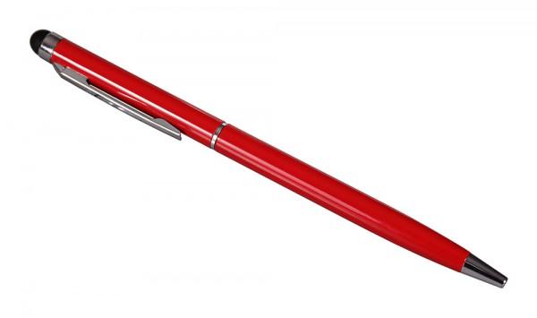 2in1 Touchpen slim rot mit integriertem Kugelschreiber von PATONA