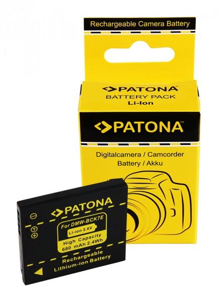 Akku f. Panasonic DMW-BCK7E Lumix DMC78FXW DMC-78FXW DMCFH2 DMC-FH2 von PATONA