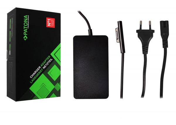 PATONA Premium Netzteil für Surface Pro 6 Pro 5 Pro 4 Pro 3 Modell 1796 Ladekabel Adapter 44W mit USB Ausgang