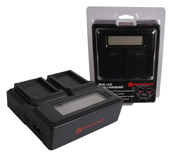 Berenstargh Dual LCD USB Ladegerät f. Fujifilm Fuji GFX50R GFX50S NP-T125