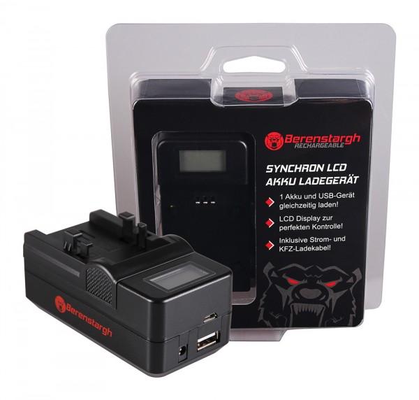Berenstargh Synchron USB Ladegerät f. Canon NB-1LH NP-600 Digital ELPH ELPH NB-1LH NP-600 Digital