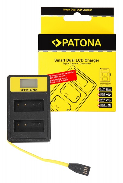 PATONA Smart Dual LCD USB Ladegerät f. Panasonic DMW-BLG10 CSBLG10MC CS-BLG10MC DMWBLG10 DMW-BLG10