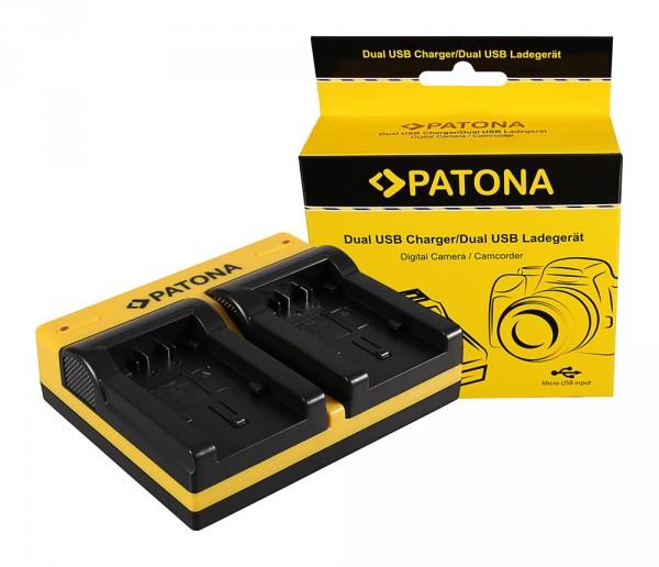 PATONA Dual Ladegerät f. Panasonic VW-VBK180 H H100 H101 H95 VW-VBK180 HC HCV700 HC-V700 inkl. Micro