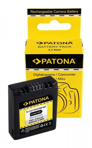 Akku f. Panasonic CGA-S002 Lumix FZ5 DMCFZ1 FZ1B DMC-FZ1/ FZ1B DMCFZ10 von PATONA