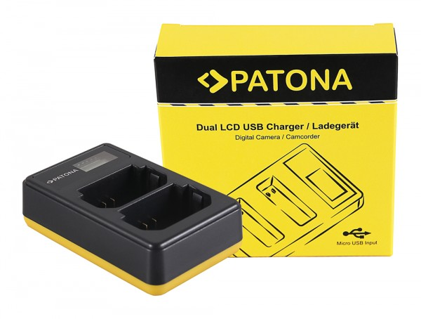 PATONA Dual LCD USB Ladegerät f. Sony A7 III, A7M3, Alpha 7 III, A7 R III, A7RM3, Alpha 7 R III, A9, Alpha 9, FZ100, BC-QZ1