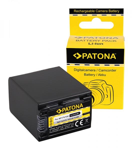 Akku f. Sony NP-FV100 CX E HDRCX350VET E HDR-CX350VET HDRCX110 von PATONA